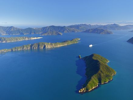 The Marlborough Sounds comprises one-fifth of New Zealand's coastline